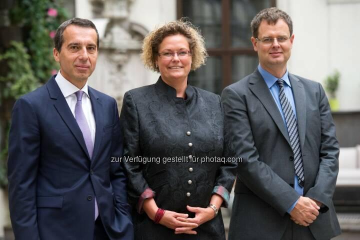 Christian Kern, CEO der ÖBB Holding AG, Sandra Kolleth, Generaldirektorin von Xerox Austria, Harald Katzmair: Was Pioniere anders machen – Xerox und FASresearch luden zum 10. Salon der Pioniere