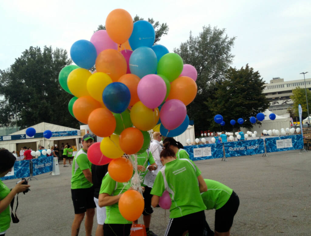Luftballons beim Wien Energie Business Run 2014 (04.09.2014)