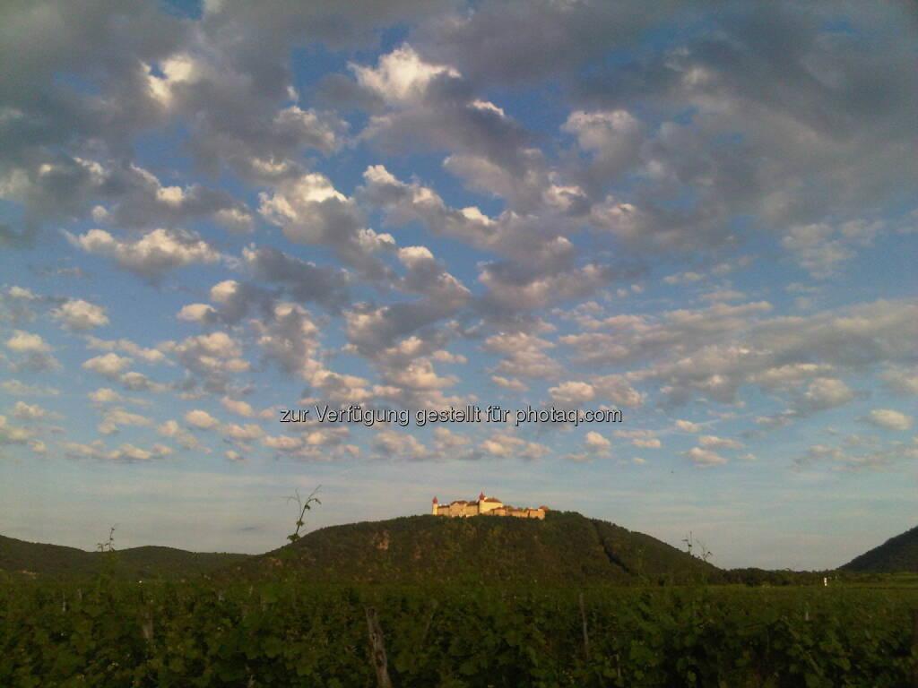 Wolfgang Matejka: Mein Foto des Jahres sind die Wolken vor Stift Göttweig; Werner Lanthalers Jazzbrunch am Silberbichl war dieses Jahr ein großartiges Fest und für viele der Ausgangspunkt markanter Einschnitte ..., © beigestellt (21.01.2013)
