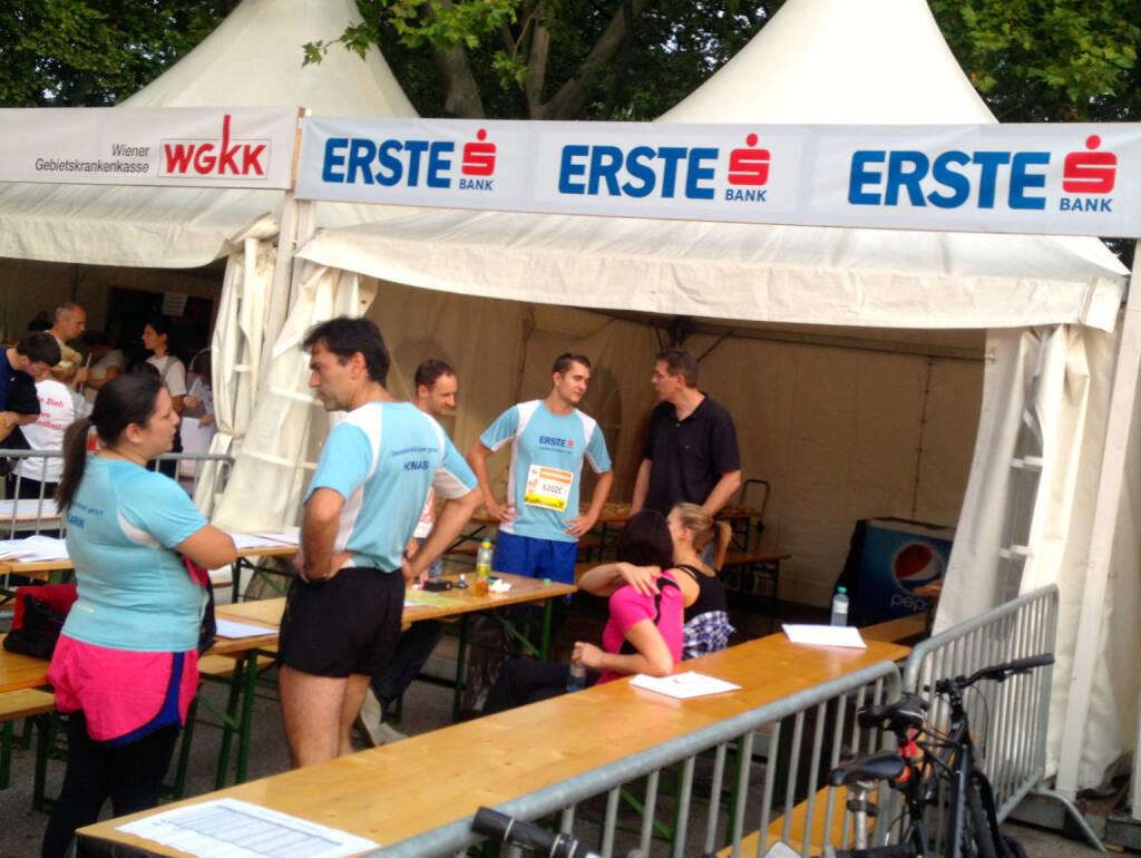 Erste Bank beim Wien Energie Business Run 2014 (04.09.2014)