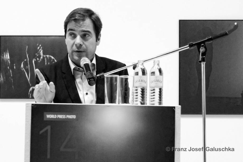 Rainer Nowak; Eröffnung World Press Photo 14, © Franz Josef Galuschka (05.09.2014)