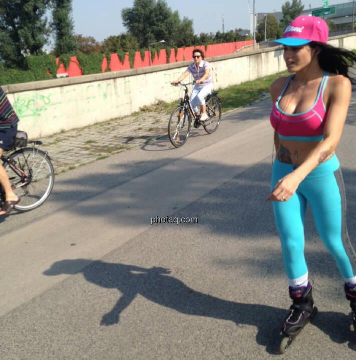 Skating Radfahren Donauinsel