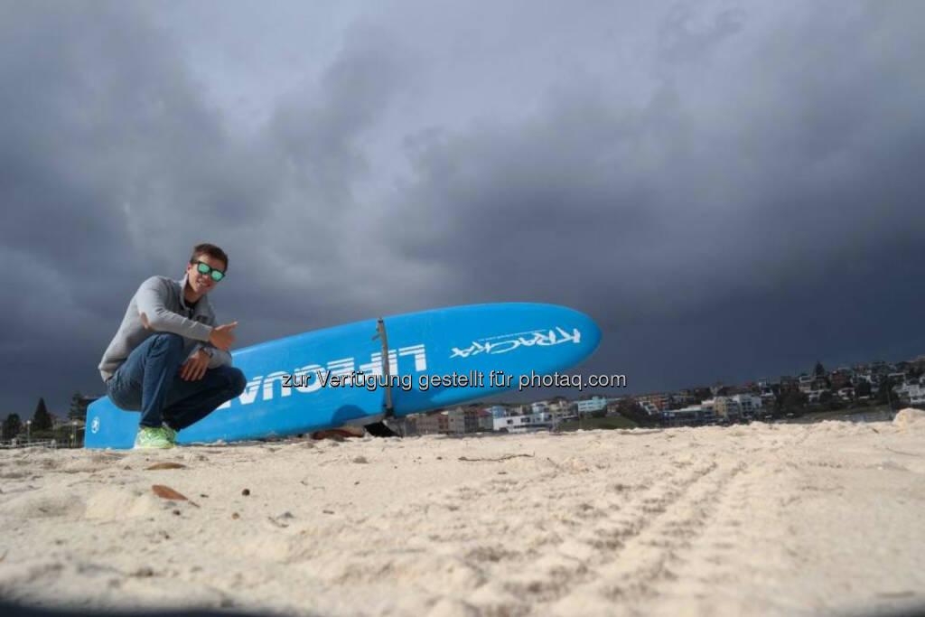 Gerald Pollak am Bondi Beach, Australien, © Gerald Pollak (06.09.2014)