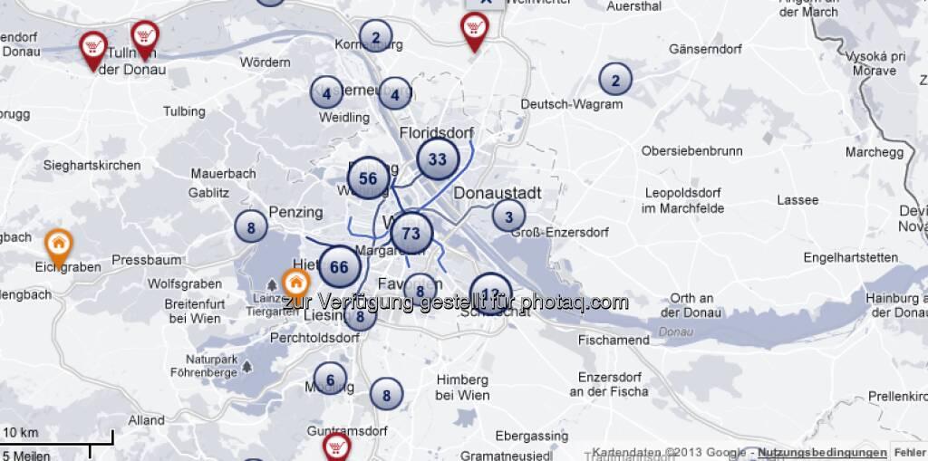 Die Wien-Übersicht unter http://properties.immofinanz.com/ (c) Immofinanz (23.01.2013)
