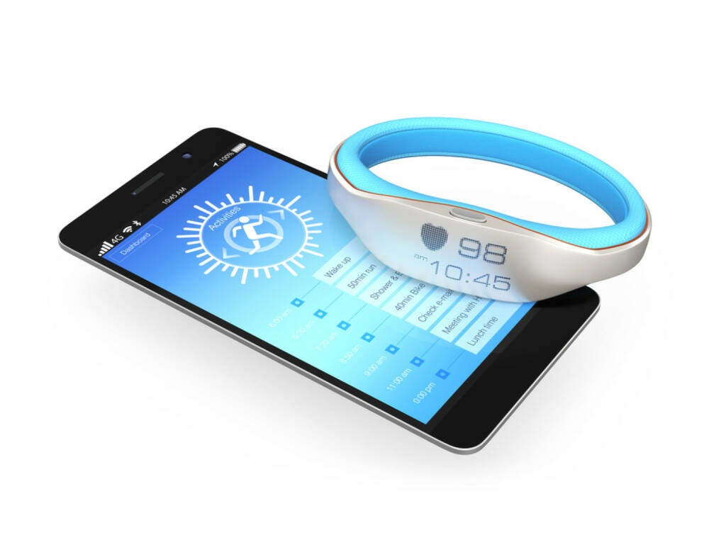 sync, synchron, http://www.shutterstock.com/de/pic-188143319/stock-photo-smartphone-and-smart-wristband.html, © www.shutterstock.com (26.09.2017)