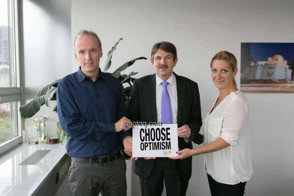 Christian Drastil, Ernst Vejdovszky und Lisa Wagerer beleben Choose Optimism wieder  (09.09.2014)
