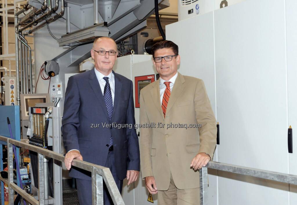 Die Geschäftsführer  Walter Mayer und Peter Wienerroither: TCG Unitech investiert 70 Millionen Euro für langfristiges Wachstum, © Aussender (11.09.2014)