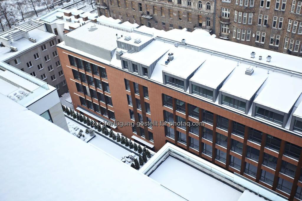 Warimpex eröffnet Le Palais Bürogebäude in Warschau - Modern Facade (c) Warimpex (24.01.2013)
