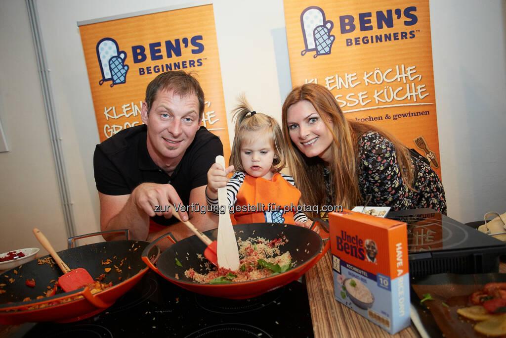 Bernie Rieder, Starkoch und Martina Kaiser + Tochter - Prominenten-Kochevent mit Starkoch Bernie Rieder (13.09.2014)