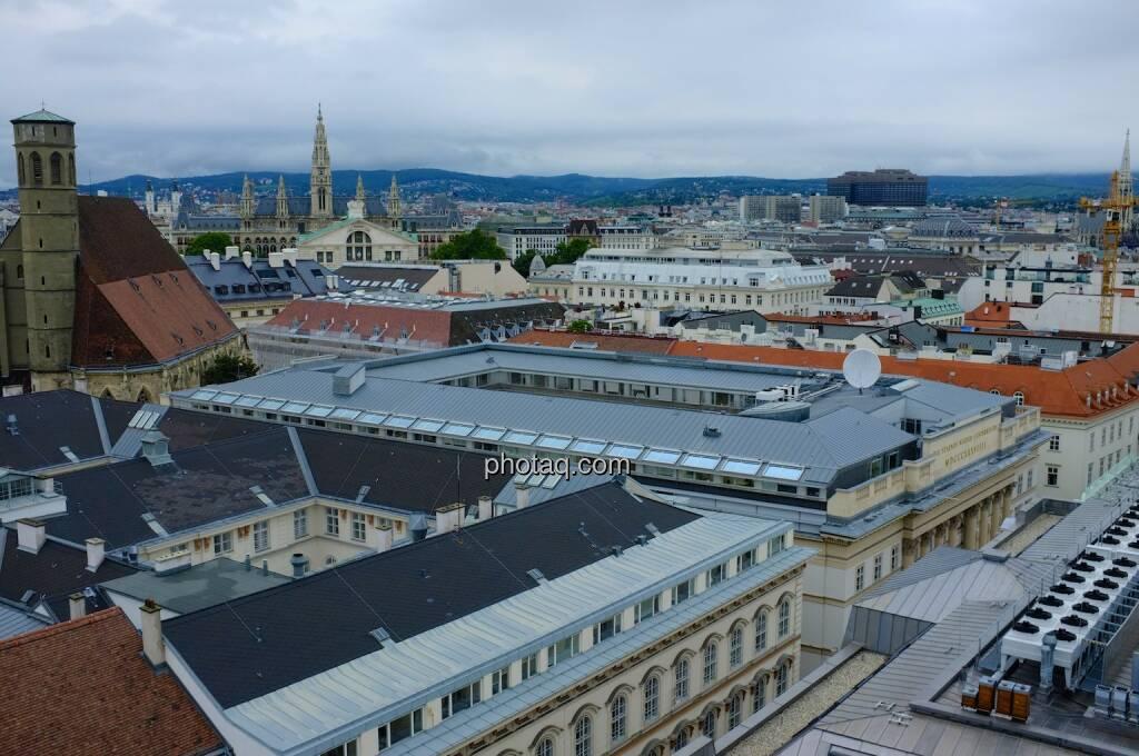 Hochhaus Herregasse 6-8 Aussicht Minoritenkirche, Rathaus Wien, © Josef Chladek für photaq.com (13.09.2014)