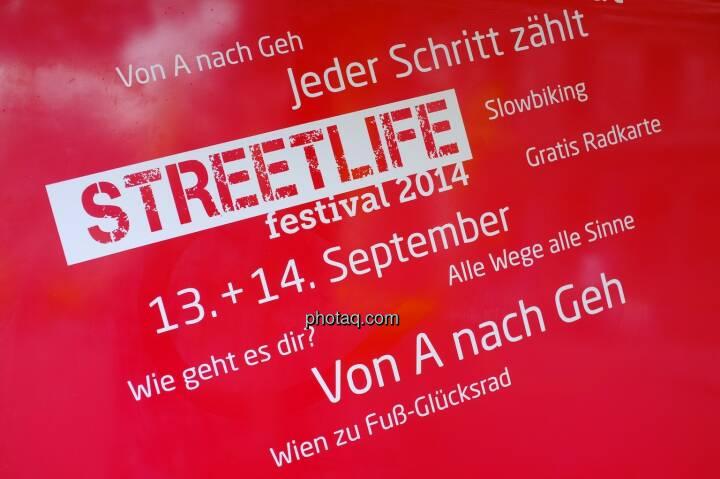 Streetlife Festival 2014 - 13.,14.9.2014 Jeder Schritt zählt