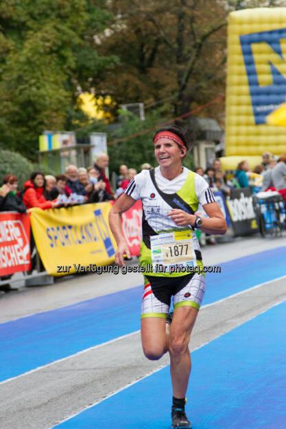Winkler Monika, 3. Platz, Viertelmarathon Damen, Wachau Marathon 2014, © Milena Ioveva  (14.09.2014)