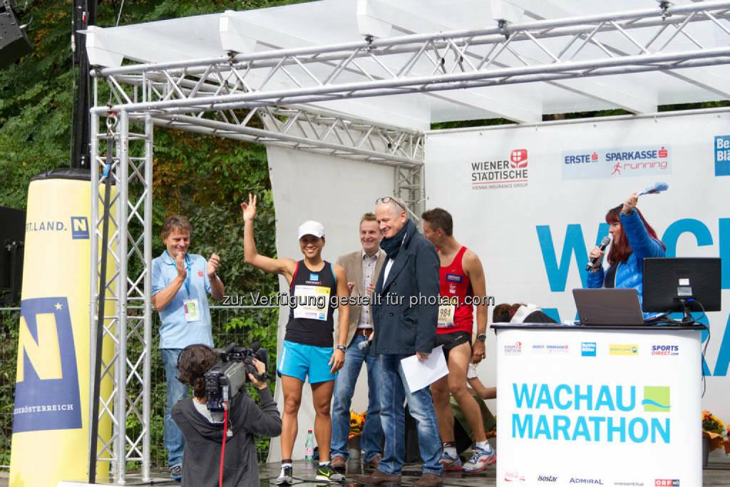 Annabelle Mary Konczer, Siegerin Viertelmarathon Damen, Wachau Marathon 2014, © Milena Ioveva  (14.09.2014)