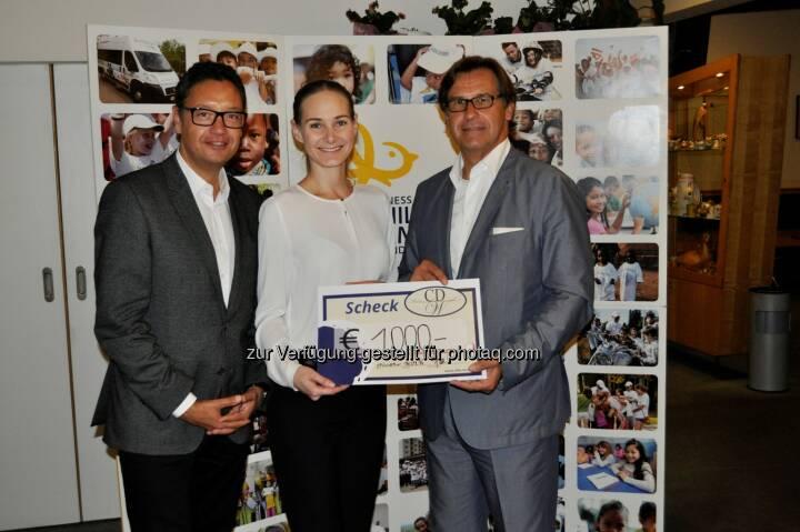 Andreas Werner, Aufsichtsratsmitglied Lyoness Group AG; Nina Passegger, Lyoness Child & Family Europe; CDW-Präsident Josef Vuzem: Lyoness & CDW: Ein Golftag im Zeichen von Diplomatie und Wirtschaft