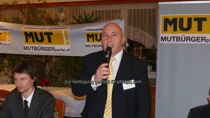 Mutbürgerpartei.at - der Spitzenkandidat für NÖ: Herbert Weinzettl (c) Aussendung