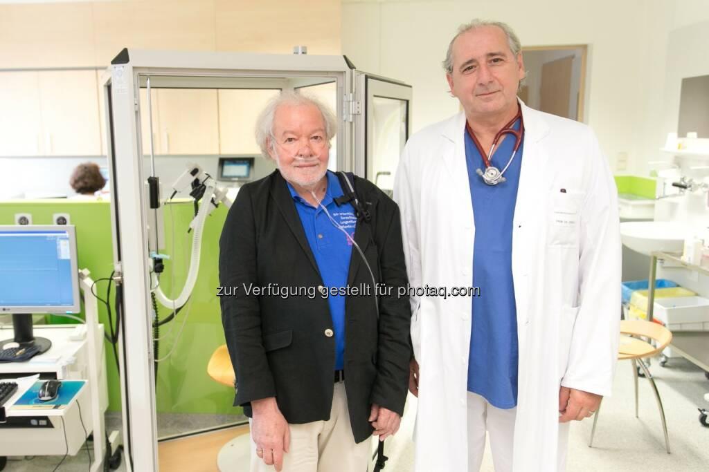 Günther Wanke, LOT-Austria; Primar Peter Errhalt, Landesklinikum Krems.: Internationalen IPF-Woche vom 28. September - 5. Oktober 2014 (16.09.2014)