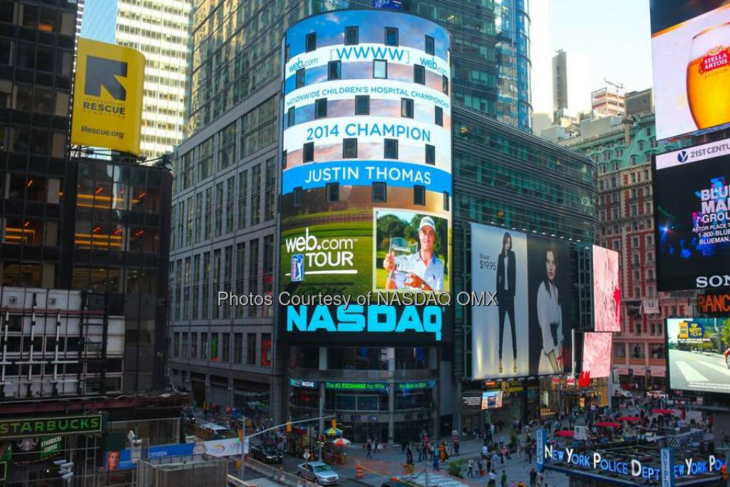 Congratulations to Justin Thomas, winner of Web.com Tour's Nationwide Children's Hospital Championship #WebTour  Source: http://facebook.com/NASDAQ (16.09.2014)