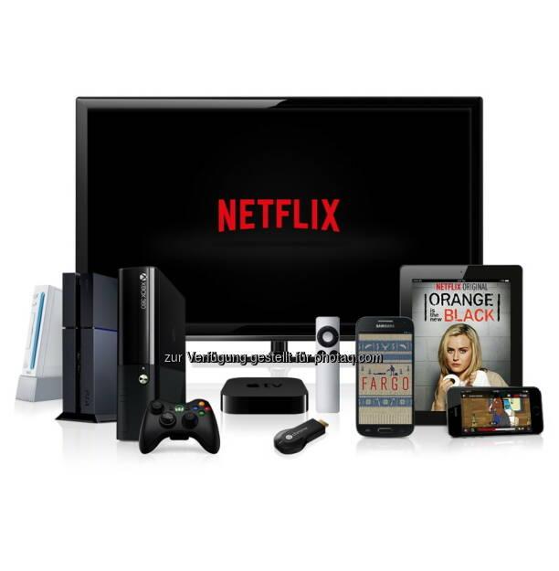 Netflix Inc., der weltweit führende Internet- Fernsehanbieter ist nun in Österreich verfügbar. Ab heute können Nutzer in Österreich sofortigen Zugang zu einer breiten Auswahl an Serien und Filmen genießen, die ab 7,99 E/Monat über Netflix gestreamt werden können., © Aussendung (17.09.2014)
