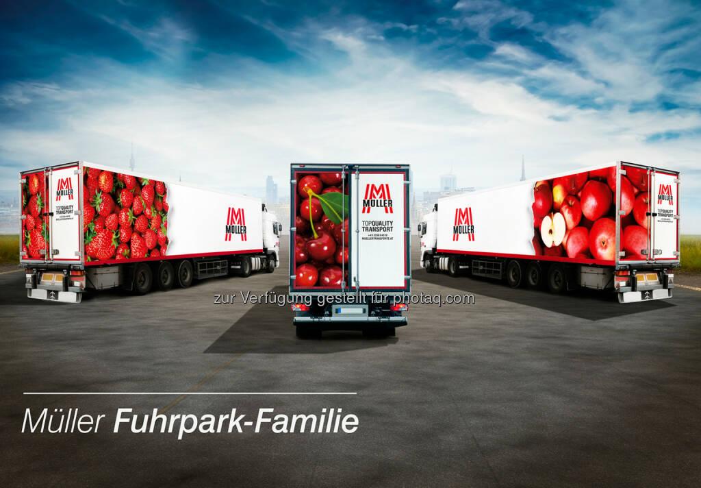 Müller Transporte setzt mit neuem LKW-Design auf Sichtbarkeit und Transparenz, © Aussendung (17.09.2014)