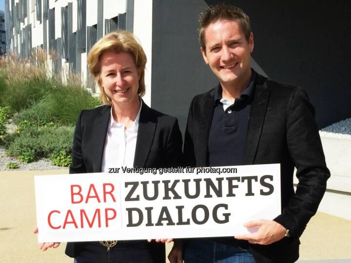 """Birgit Kraft-Kinz, Josef Mantl: Die Fachgruppe Werbung Wien beauftragt JMC nach einer Ausschreibung mit der Organisation des """"Barcamp Zukunftsdialog"""" am 11. Oktober im Coworking Space"""