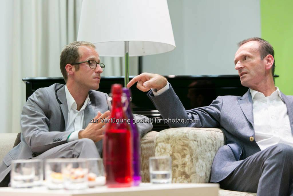 Dominic Weiss, Leitung Smart City Wien Agentur + Public Affairs, Christian Plas, Geschäftsführer denkstatt GmbH, © Martina Draper für CSR Circle (19.09.2014)
