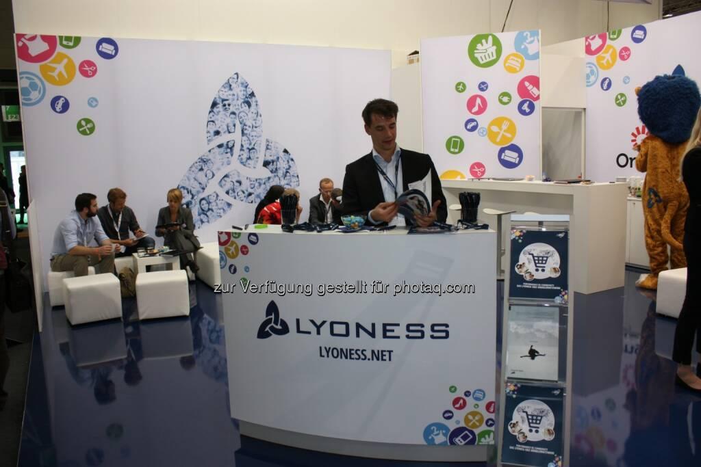 Lyoness Ebiz mit Ongus und Webconomy bei Dmexco 2014, © Aussender (19.09.2014)