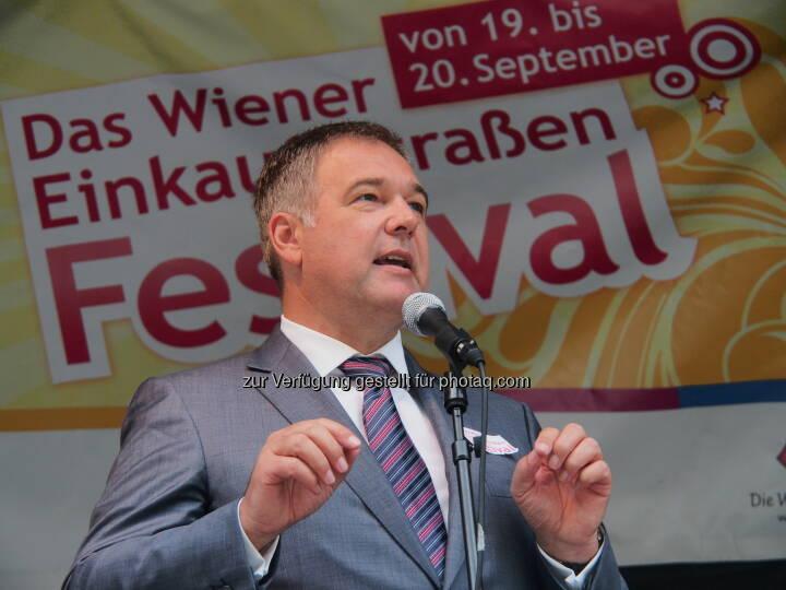 WK Wien Präsident Ruck eröffnet Einkaufsstraßen Festival