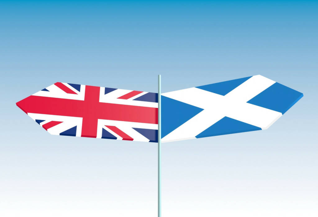 Schottland, Flagge, Großbritanien, England, http://www.shutterstock.com/de/pic-216277471/stock-photo-scotland-vote-for-independence-politic-relative-background-with-national-flags.html, © shutterstock.com (22.09.2014)