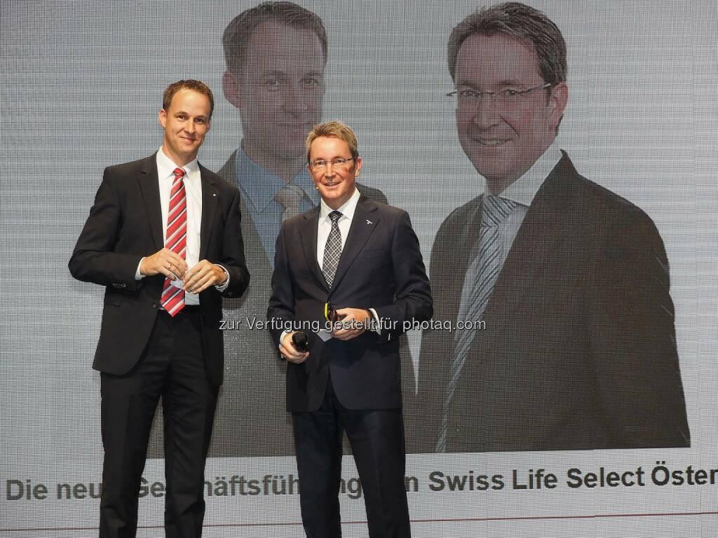 Frank Wiemer, Christoph Obererlacher - Geschäftsführung Swiss Life Select Österreich (Bild: Pepo Schuster), © Copyright Swiss Life Select (22.09.2014)