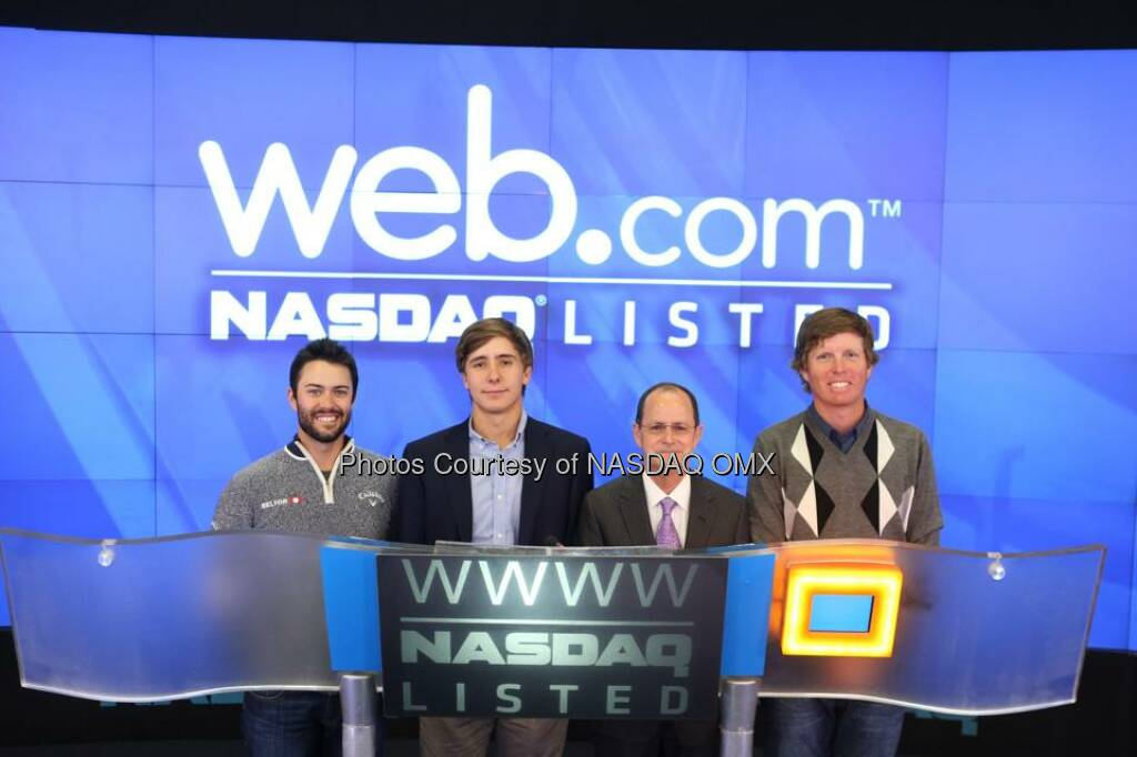 Web.com rings the #NASDAQ Closing Bell! $WWWW  Source: http://facebook.com/NASDAQ (23.09.2014)