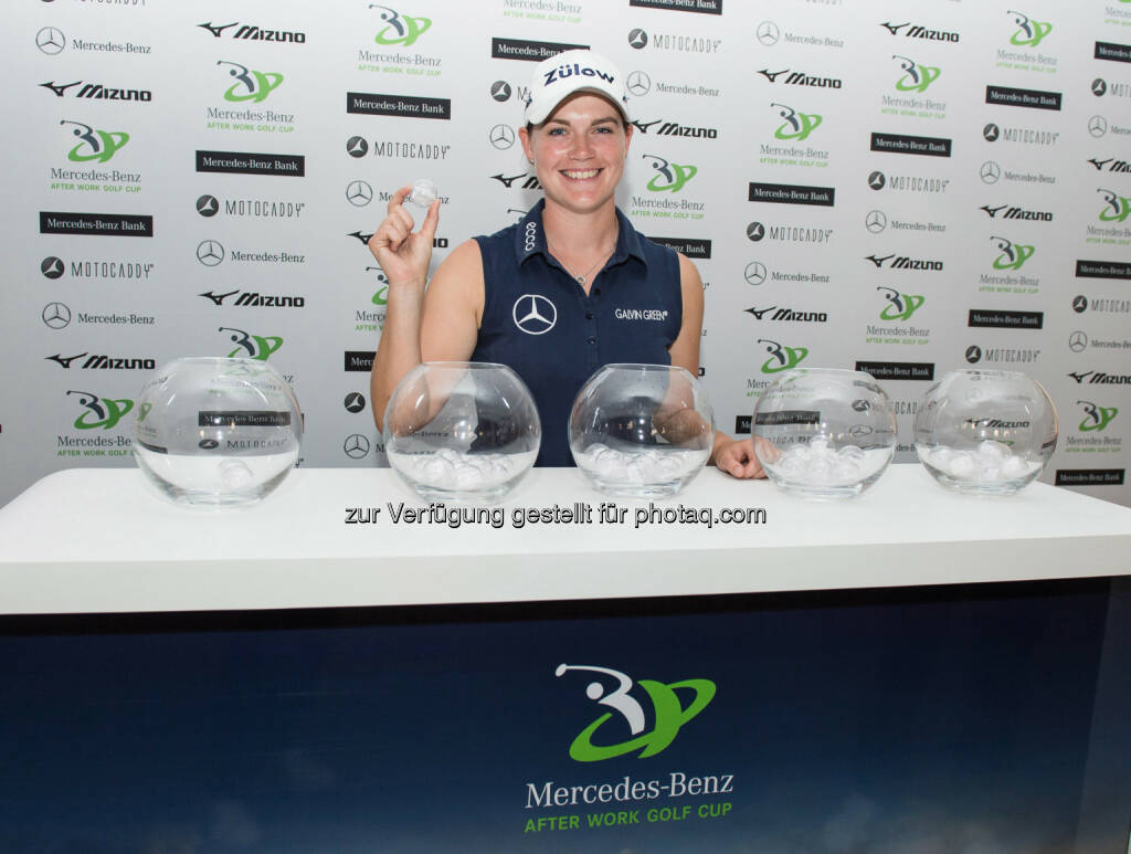 Caroline Masson - Markenbotschafterin Mercedes Benz - Mercedes-Benz After Work Golf Cup. Beliebte 9-Lochserie knackt 3.000er Turniermarke, © Aussendung (23.09.2014)
