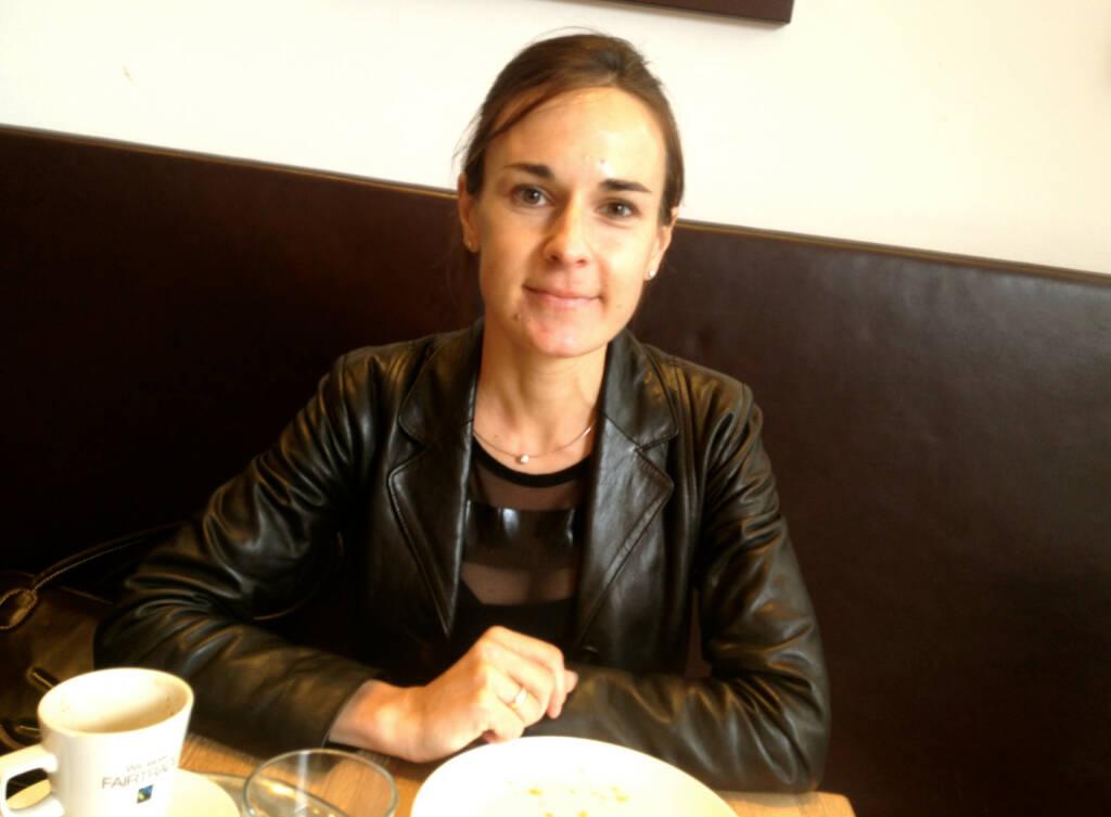 Mit Carola Bendl-Tschiedel, Bankerin und Spitzenläuferin, beim Ströck (23.09.2014)