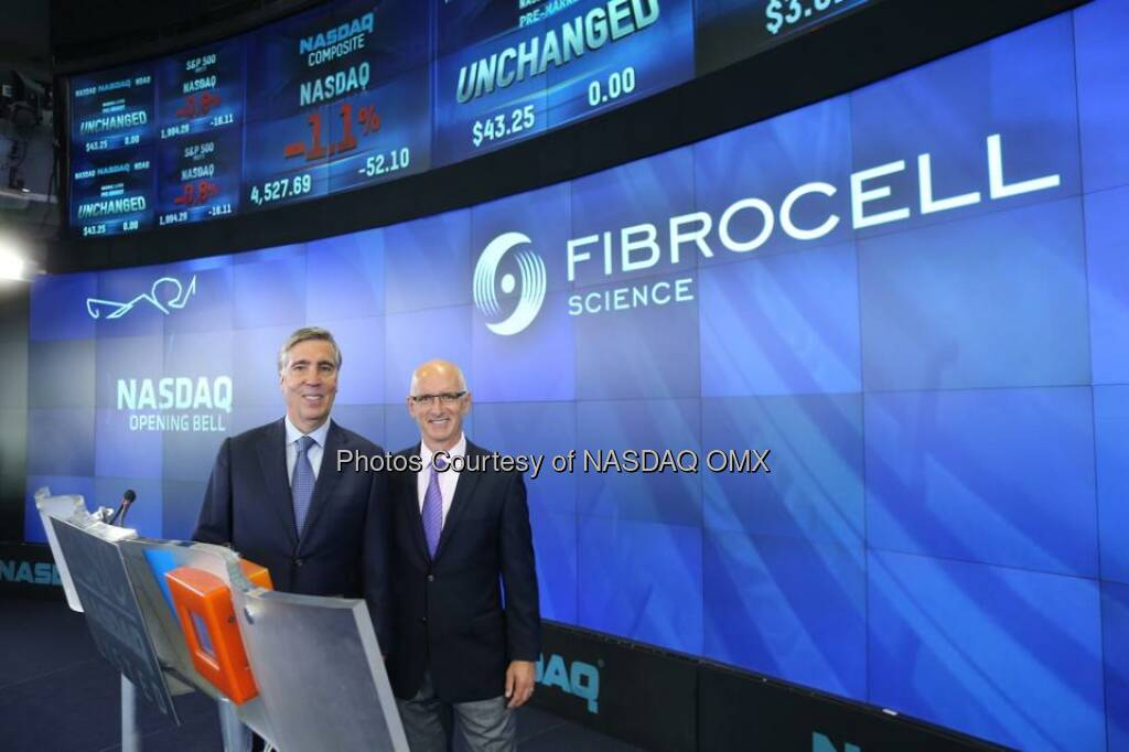 Fibrocell rings the #NASDAQ Opening Bell! $FCSC  Source: http://facebook.com/NASDAQ (23.09.2014)
