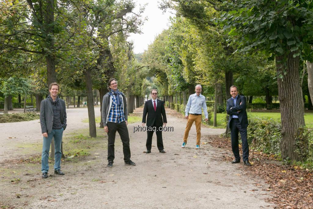Martin Watzka (dasertragreich.at), Josef Chladek, Gregor Rosinger, Christian Drastil, Wolfgang Matejka (Matejka & Partner) , © Martina Draper/photaq (23.09.2014)