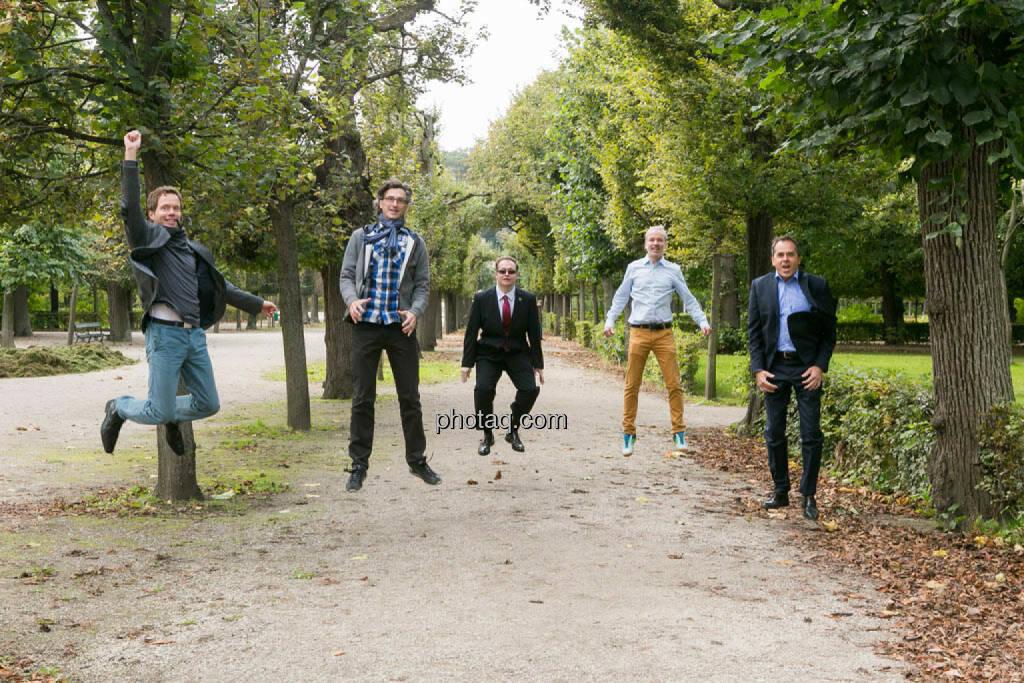 Martin Watzka (dasertragreich.at), Josef Chladek, Gregor Rosinger, Christian Drastil, Wolfgang Matejka (Matejka & Partner), © Martina Draper/photaq (23.09.2014)