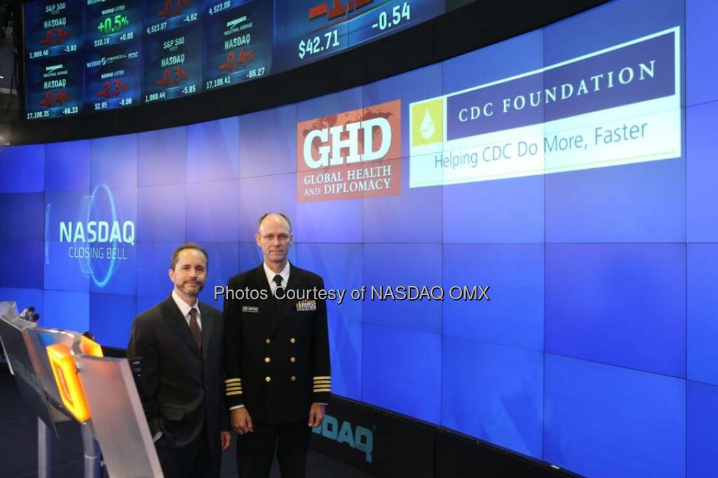 Global Health and Diplomacy rings the #NASDAQ Closing Bell!  Source: http://facebook.com/NASDAQ (24.09.2014)