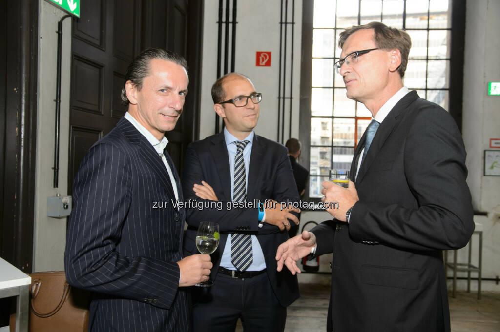 Christian Rainer (Chefredakteur Profil), Peter Schiefer (Konzernsprecher Telekom Austria Group) und Thomas Kralinger (VÖZ Präsident), © Telekom Austria Group / Rainer Eckharter (24.09.2014)