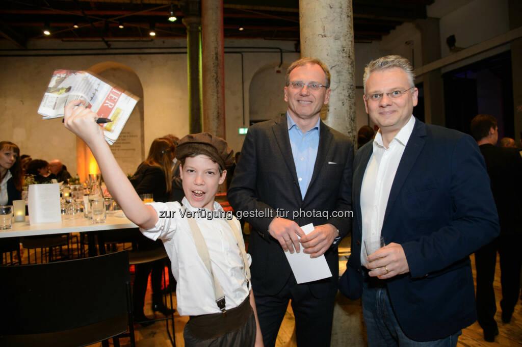 Armin Wolf (ZIB2 Anchor) und Dieter Bornemann (ORF Journalist), © Telekom Austria Group / Rainer Eckharter (24.09.2014)