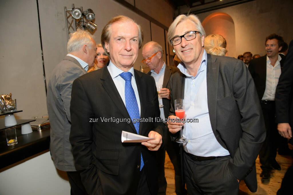 Friedrich Stickler (Vorstandsdirektor der Österreichischen Lotterien) Alfred Koblinger (Geschäftsführer PKP BBDO), © Telekom Austria Group / Rainer Eckharter (24.09.2014)