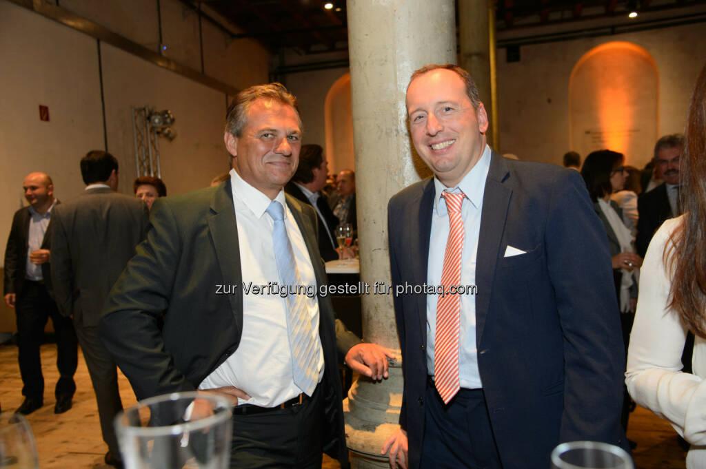 Günther Ottendorfer (CTO Telekom Austria Group) und Georg Obermeier (Generalmanager Microsoft Österreich), © Telekom Austria Group / Rainer Eckharter (24.09.2014)