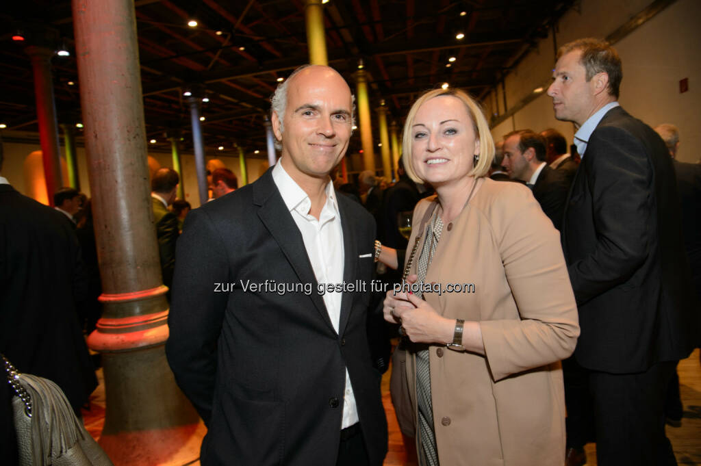 Rudi Kobza (Geschäftsführer kobza integral public relations) und Kristin Hanusch-Linser (Pressesprecherin ÖBB), © Telekom Austria Group / Rainer Eckharter (24.09.2014)