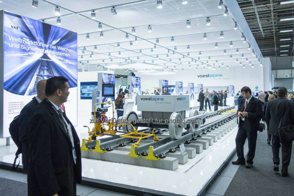 Die voestalpine auf der InnoTrans 2014 in Berlin - http://www .voestalpine.com/innotrans, Quelle: https://www.facebook.com/voestalpine/photos/a.10152749473686248.1073741844.45771186247/10152749474186248/?type=1&theater