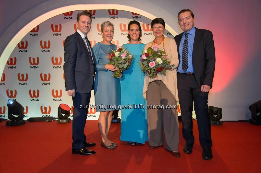 Marcin Kotlowski (WH Medien GmbH), Sigrid Oblak (Wien Holding), Eva Pölzl, Renate Brauner (Vizebürgermeisterin), Markus Pöllhuber (WH Medien GmbH), © ViennaPress / Andreas Tischler (25.09.2014)