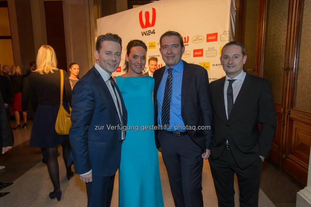 Marcin Kotlowski (WH Medien Geschäftsführer), Eva Pölzl, Markus Pöllhuber (WH Medien Geschäftsführer), Michael Kofler (W24 Geschäftsführer und Programmdirektor), © ViennaPress / Andreas Tischler (25.09.2014)