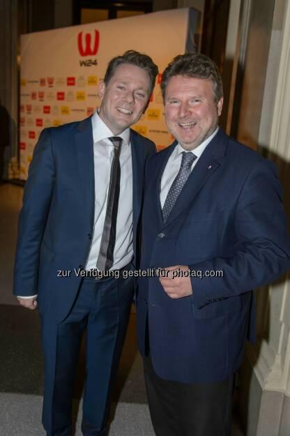 WH Medien Geschäftsführer Marcin Kotlowski mit Wohnbau Stadtrat Michael Ludwig, © ViennaPress / Andreas Tischler (25.09.2014)