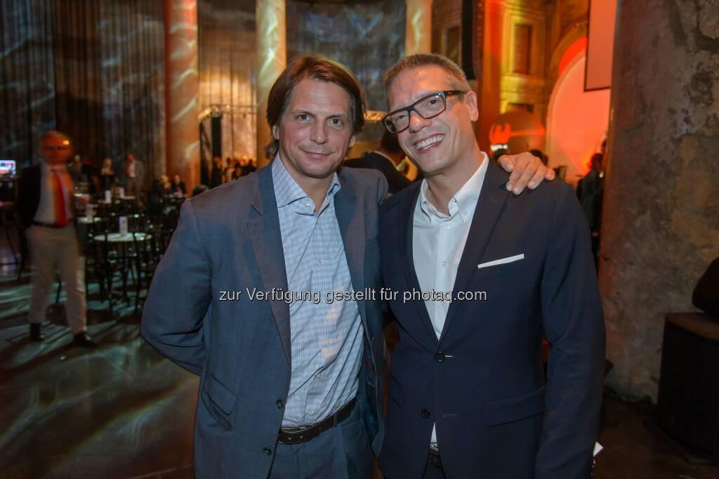 Oliver Böhm (Geschäftsführung ORF Enterprise) und Holger Thor, © ViennaPress / Andreas Tischler (25.09.2014)