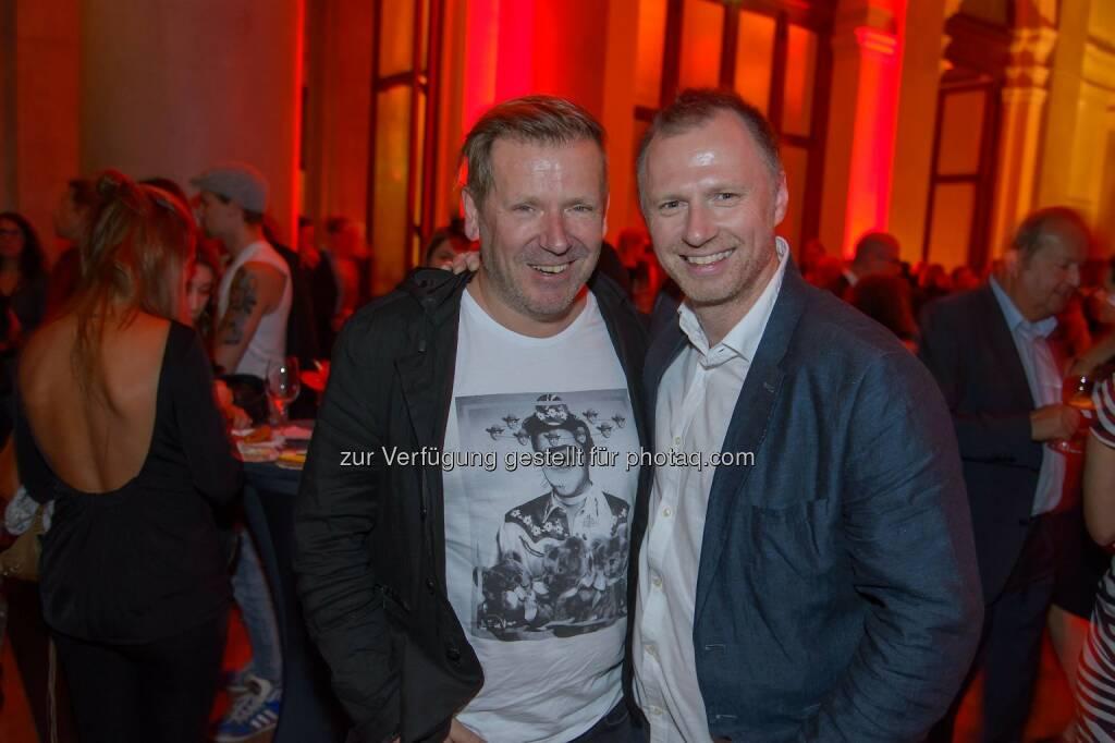 Eberhard Forcher (Austrozone) und Alex List (DJ), © ViennaPress / Andreas Tischler (25.09.2014)