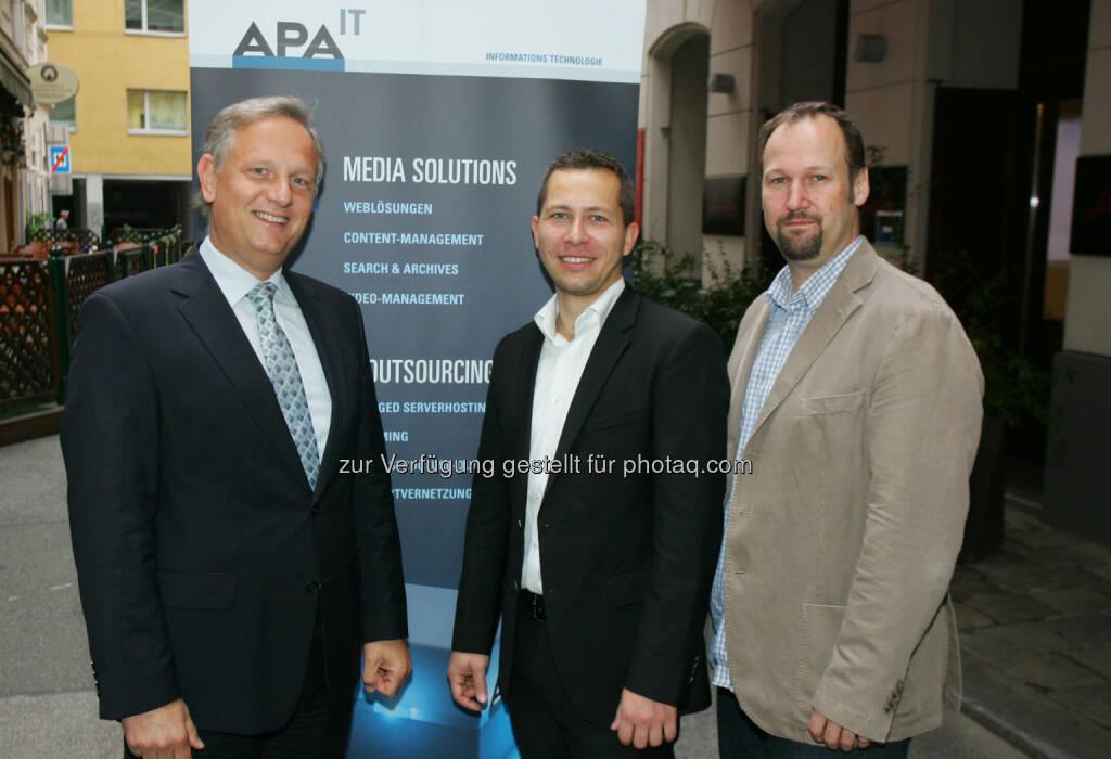 Alexander Falchetto (Geschäftsführer APA-IT), Florian Rätzer (Channel Manager ProfitBricks) und Holger Höttl (Geschäftsführer fotografie.at): APA-IT Informationstechnologie GmbH: Mit Cloud Computing 2.0 zur optimalen IT-Infrastruktur, © Aussendung (26.09.2014)