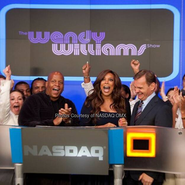 #TBT to Wendy Williams ringing the @NASDAQ Bell! #throwbackThursday #wendywilliams #NASDAQ #WendyWilliamsShow  Source: http://facebook.com/NASDAQ (26.09.2014)