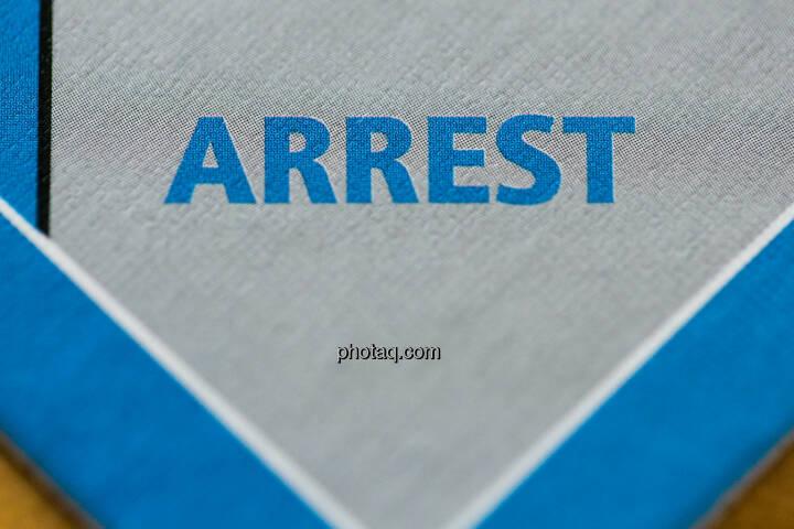 Arrest, einsperren, Gefängnis